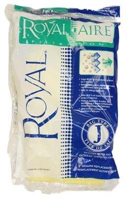 Peerage / Dirt Devil Type J Royal-aire Micro-filtration Vacuum Bags 3-467130-001 - 3 Bags + 1 Filter - Genuine