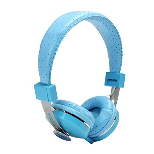 Stereo Bass Over-the-Ear Headphones Headset (Sky Blue) - 9