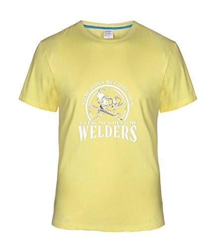 Vanderbilt Case Bag - Beatles Rock Men's Cool Created Equal, Some Boys Become Men Welder t shirts lightYellow