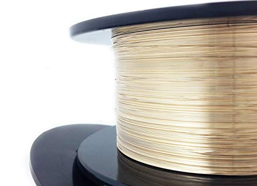1 Ounce (120 Ft) 14/20 Yellow Gold Filled Wire 28 Gauge, Round, Dead Soft - from Craft Wire - Gold Round Wire Gauge Filled
