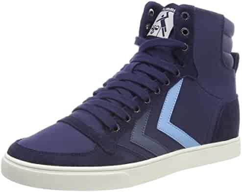 19be149f787689 Hummel Unisex Adults  Slimmer Stadil Duo Canvas High Hi-Top Trainers