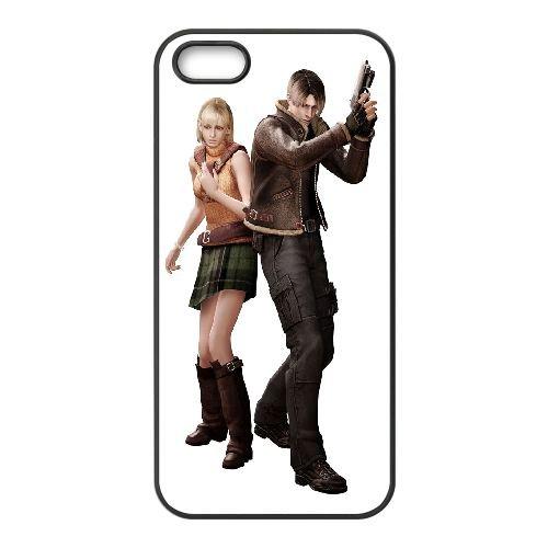 Ashley And Leon Resident Evil coque iPhone 4 4S Housse téléphone Noir de couverture de cas coque EBDOBCKCO17400