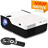 1080P Projector, 1080p Native Resolution Full HD Projector, 4000 Lumens Home Theater LED