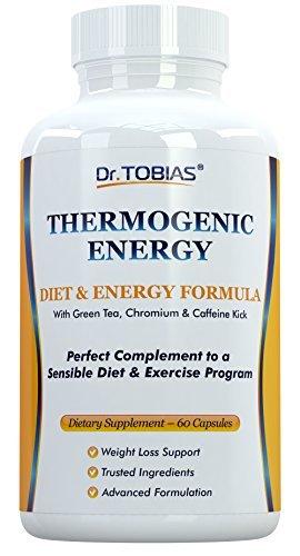 Dr Tobias Thermogenic Energy - with Green Tea, Chromium & Caffeine (60 Capsules)
