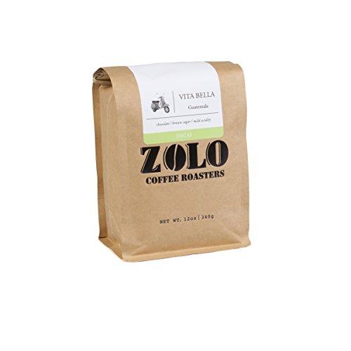 Zolo Coffee Roasters Vita Bella Decaf Medium-Dark Roast Fresh Roast Whole Coffee Beans 12 oz…