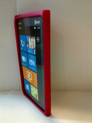 NOKIA OEM Original RED Pink Sleeve Gel Case Skin for LUMIA 900 AT&T Raspberry