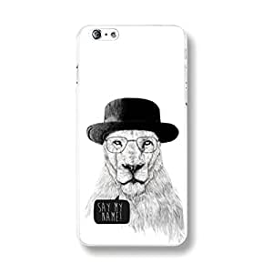 ANYPHONE-for iPhone 6 Cartoon Lion King of the Forest Pictorial Protective Back Hard Case Clear Frame