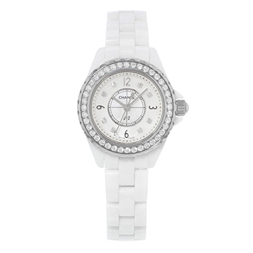 Chanel J12 Mother of Pearl White Ceramic Ladies Watch H2572 (Chanel J12 White Ceramic Watch)