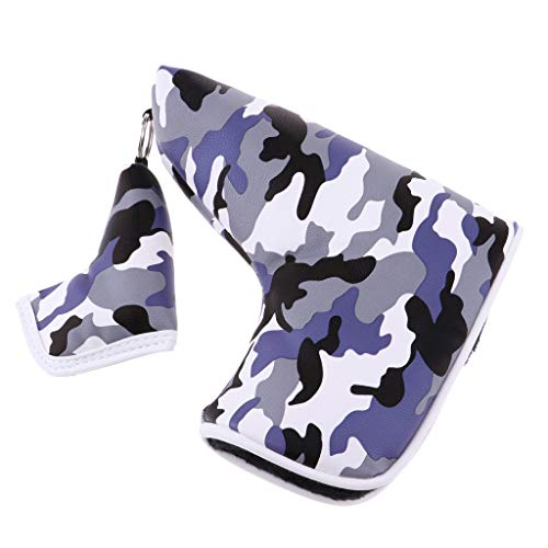 SM SunniMix Camouflage Pattern Golf Headcover Putter Blade Head Cover Magnetic Headcover - Choose Colors - Purple