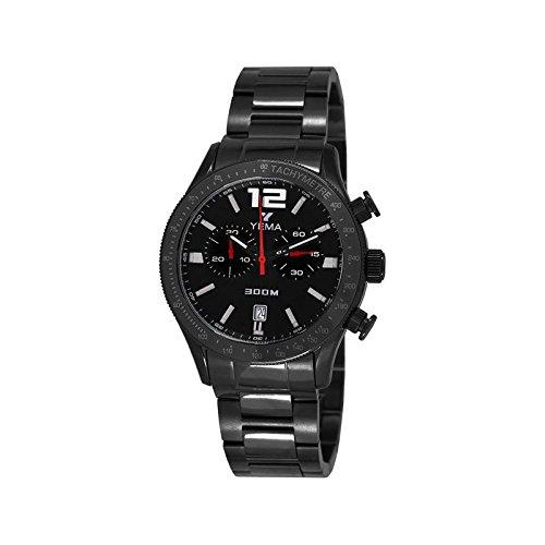 Reloj yema rallygraf hombre soleillé negro y contadores negros - ymhf1429 - Idea regalo Noel - en Promo: Amazon.es: Relojes
