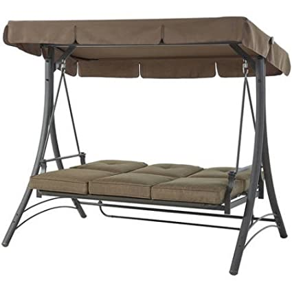 Mainstays Wentworth 3 Person Canopy Cushioned Porch Swing 2pk Car Sunshade
