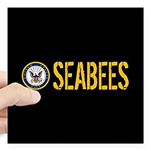 CafePress U.S. Navy: Seabees (Black) Sticker Bumper Sticker by CafePress