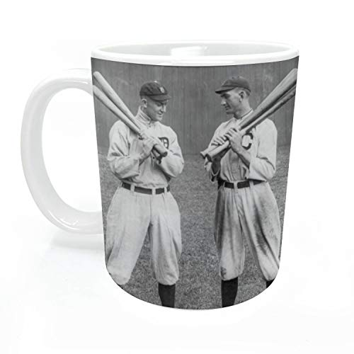 Joeli Mug2510 Promotional Art MugTy Cobb Shoeless Joe Jackson Vintage Baseball Premium 11oz Photo Mug, Large, Vibrant Multi