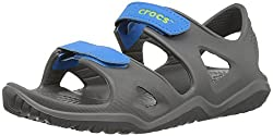 Crocs Crocband Fun Lab Light-up Clog, Grey, 6 M Us Toddler