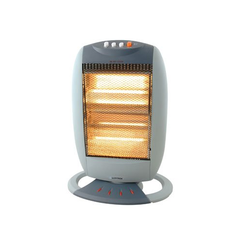 Lloytron F2106GR 3 Bar Halogen Heater, Small, 1200 Watt, Grey