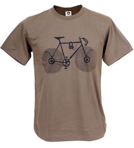 Signs Fun Cd - Tshirtmystyle Men's Banksy Bicycle Music Retro Stencil Art Man T-Shirt