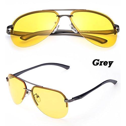 TIANLIANG04 Nouvelles lunettes de soleil hommes lunettes polarisées Lentille jaune anti-reflet de la Vision de nuit Lunettes Lunettes Guide de conduite mâle MNLg18