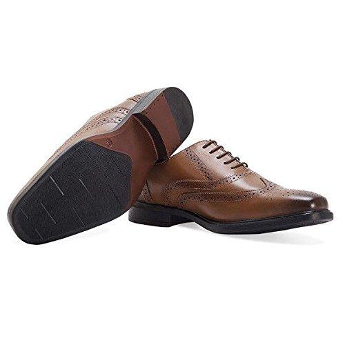 d5ffc428f79 Redfoot Pour Homme en Cuir Patiné Tan Oxford Brogue Chaussures ...
