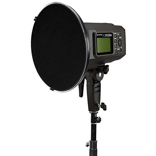 Godox 21'' 55cm Beauty Dish Reflector with Honeycomb Grid for Bowens Mount Studio Flash Strobe Monolight Such as Witstro AD600B AD600BM QT600IIM QT400IIM (Interior: White Bounce) by Godox (Image #2)