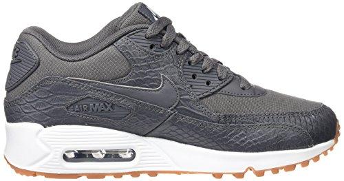 Nike Wmns Max 90 Prm, Entrenadores para Mujer Gris (Dark Grey/dark Grey/gum Yellow/white)