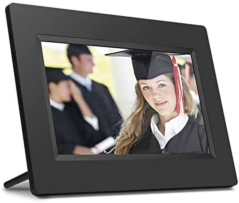 Aluratek 7 Inch LCD Digital Photo Frame with Auto Slideshow Using USB SD SDHC ADPF07SF Black