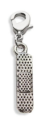 Whimsical Gifts Nurse Charm Dangle (Band Aid, Silver)
