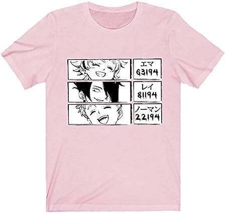 La Camiseta The Promised Neverland, Unisex Emma Norman Ray Print Anime japonés Manga Corta Tops para niños Adultos