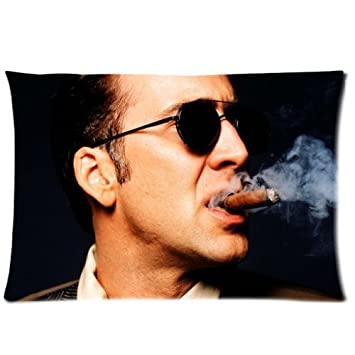 Amazon.com: Nicolas Cage Custom Zippered Pillow Cases 20 x ...