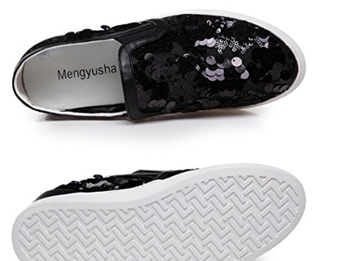 Aumento Hueco de Lentejuelas Flat NVLXIE BottomInternal Perezoso Primavera Lady Zapatos black Shoes y Verano 0nqB6Rwq