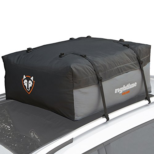 Rightline Gear 100S50 Sport Jr. Car Top Carrier, 9 cu ft, Waterproof, Attaches With or Without Roof Rack (Parts Vibe Smart)