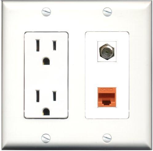 RiteAV - Toma de Corriente de 15 amperios y Cable coaxial de 1 ...