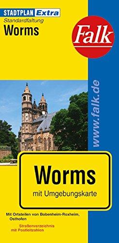 Falk Stadtplan Extra Standardfaltung Worms Landkarte – 9. Mai 2014 OSTFILDERN 3827926505 Deutschland Karten