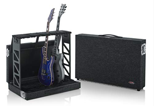 (Gator Cases Compact Guitar Stand Case; Holds up to (4) Acoustic or Electric Guitars (GTRSTD4))
