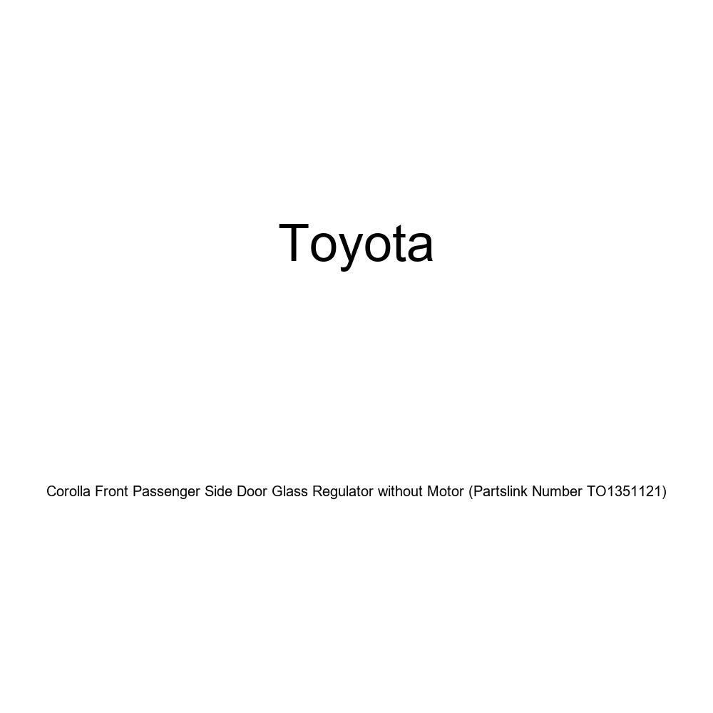 Partslink Number TO1351121 Genuine Toyota Corolla Front Passenger Side Door Glass Regulator without Motor Genuine Toyota Parts 69801-12140