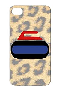 Curling Rock Navy Sweeping Hockey Winter Sports Curling Ice Sport Canada Rock TPU Drop Resistant Case Cover For Iphone 4s