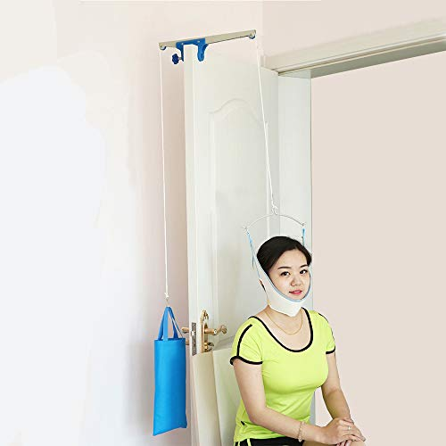 - Denshine Over Door Traction Neck Cervical Traction Massager Therapy Device Stretcher Chiropractic Posture Corrector Head Back Relaxation