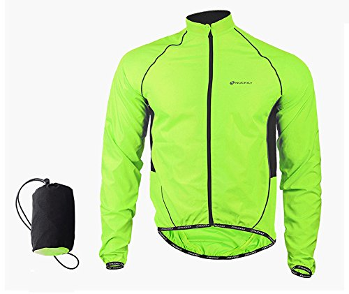 LightInTheBox Cycling Jacket Men's Long Sleeve Bike Waterproof/Windproof/Front (Visibility Windbreaker)