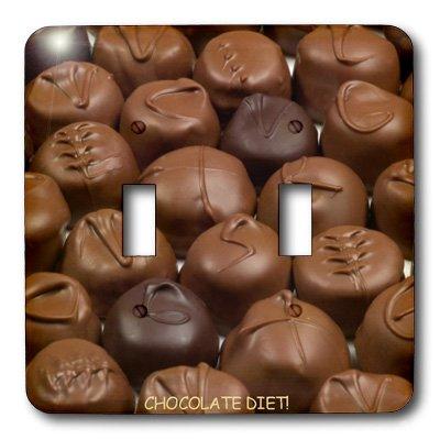 3dRose LLC LSP 6012_ 2dieta trufas de Chocolate, doble interruptor de palanca
