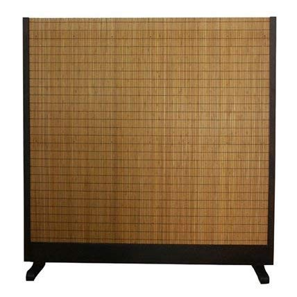 Bloomsbury Market Free Standing Hand Woven Tobacco and Bamboo Slats Room Divider + Free Basic Design Concepts Expert Guide