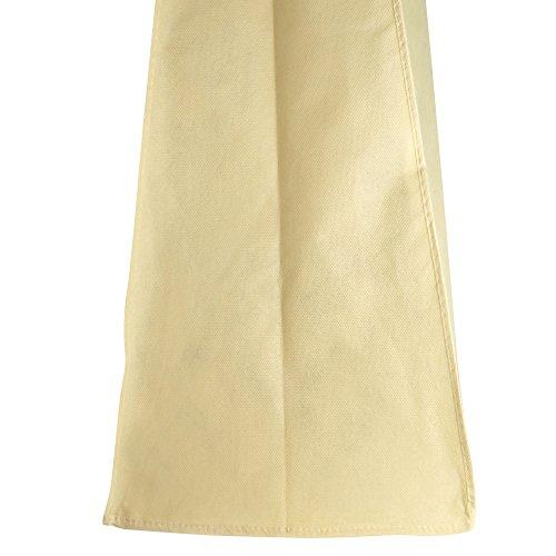 "Hangerworld 72"" Ivory Breathable Dress Cover Bag - Internal Pocket & 8"" Gusset"