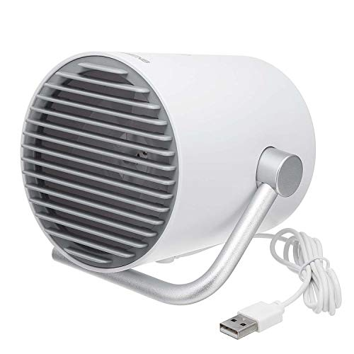 DFG46V Personal Small Desk USB Fan Mini Table Fan with Twin Turbo Blades Control Mute for Home Office Outdoor Travel,USB White Fan,Australia ()