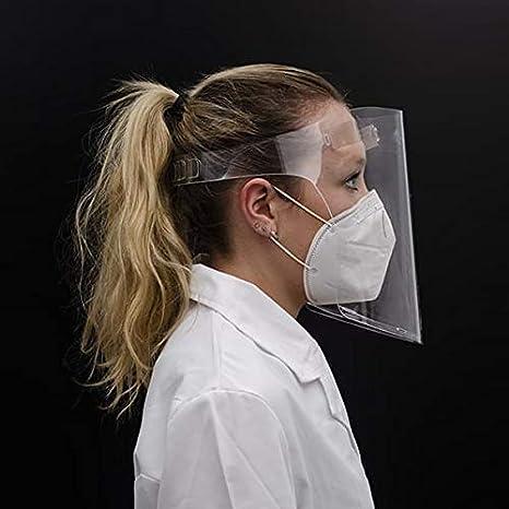 Pantalla Protectora Facial Transparente ULTRACLEAR | Máscara con Cierre Inferior Ajustable, Ergónomica y Reutilizable (1)