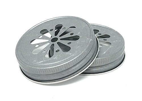 Nika's Home Jelly or Mason Jar Lid - 12 pack - G70 CT (Pewter Daisy) ()