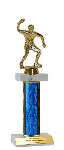 QuickTrophy Ping Pong Double Marble Trophy - 12'' by QuickTrophy