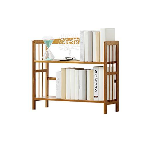 Estante de estantería simple, Estante de mesa de bambú de piso de piso de varios pisos, Estante de almacenamiento de...