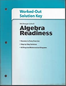 Paperback Worked-Out Solution Key, Algebra Readiness Book