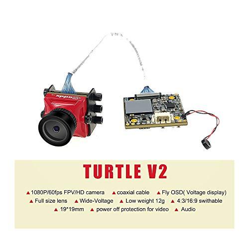 Caddx Turtle V2 FPV Camera with 1080P 60fps DVR OSD 800TVL