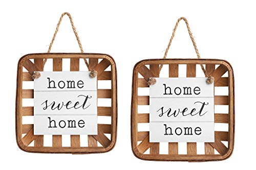 GBtroo Home Sweet Home New Home Gift - Farmhouse Home Decor for Kitchen, Living Room & Bathroom - Natural Wood Farm House Bedroom Art Decorations -House Warming Plaque