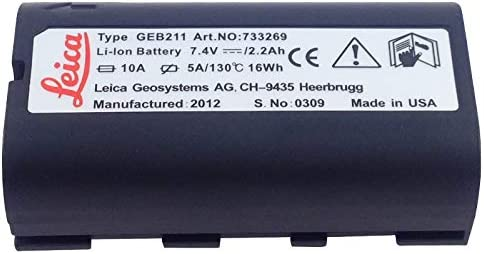 Para Leica Capacidad GEB211 Batería de 7.4V para el total de estaciones y GPS, GEB211 equivalente batería de topografía