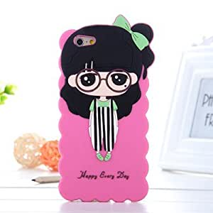 DIY ARTICLE b-1 3D Cute Cartoon Totoro Designed Soft Silicone Case for Apple Iphone 6 (4.7)
